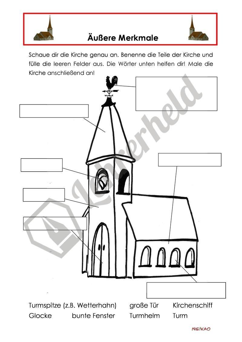 werkstattsunterricht religion meine kirche religion und ethik grundschule religion school. Black Bedroom Furniture Sets. Home Design Ideas