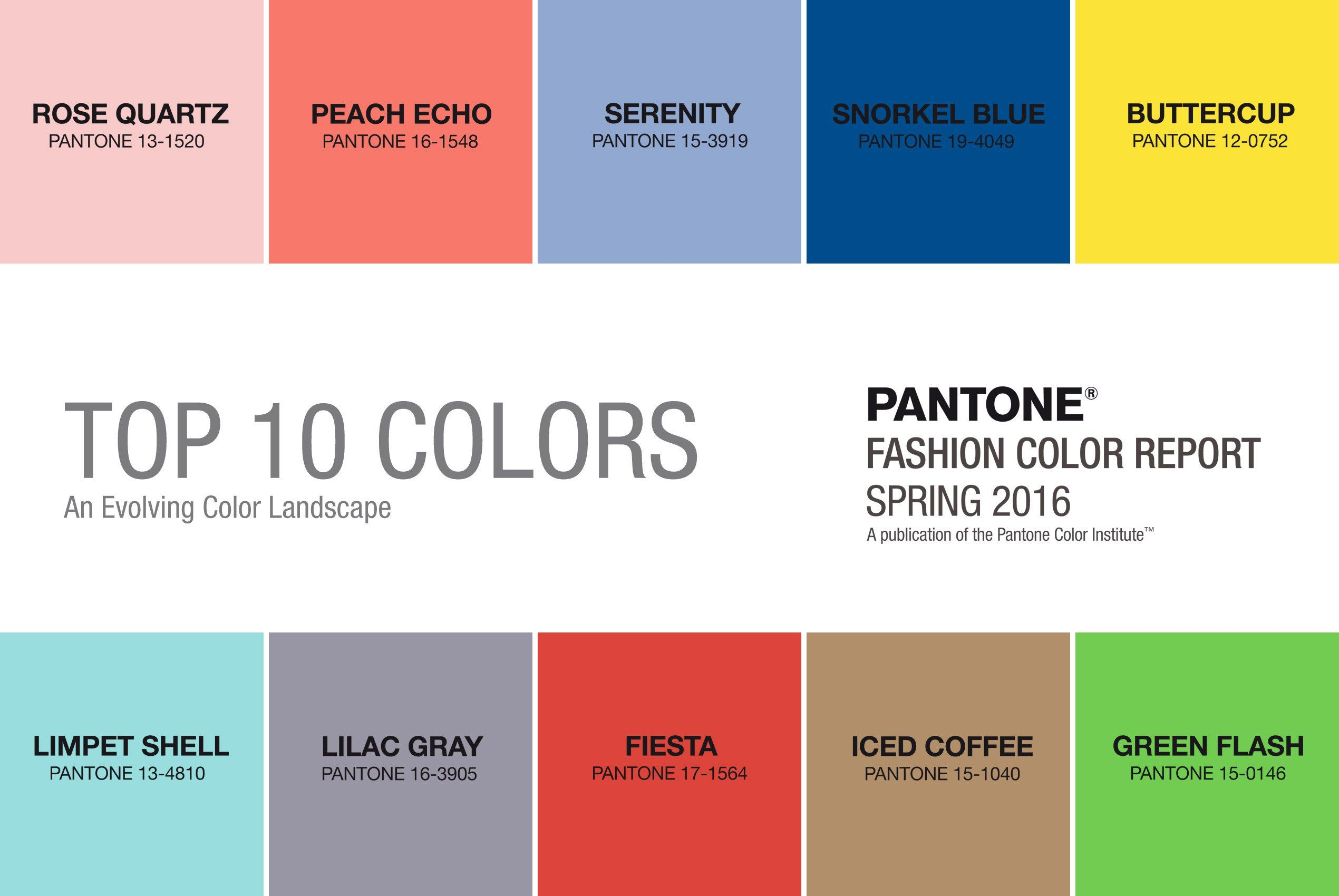 The Colors Of Spring 2016 Tell Us What You Think So Sew Easy Pantone Inspirasi