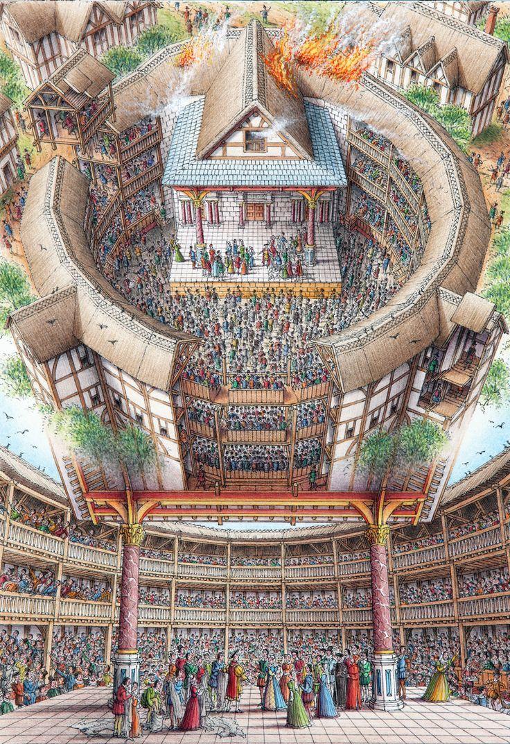 Illustrator Stephen Biesty Inside Out Views Globe Theatre