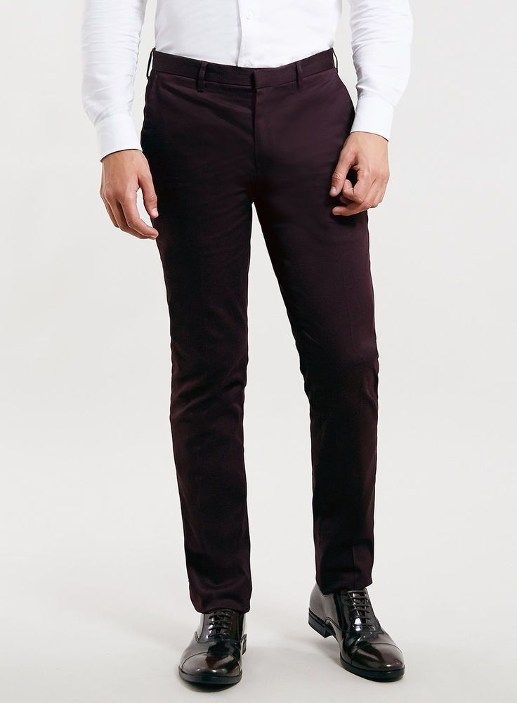 Hugo Boss Helder Slim Tapered Fit Mens Dress Pants Dark Purple