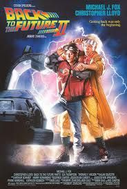 Back to the future part 2 (1989) 'Roads? Where we're going, we don't need roads.'   Excellent film, even better than the original in a way.
