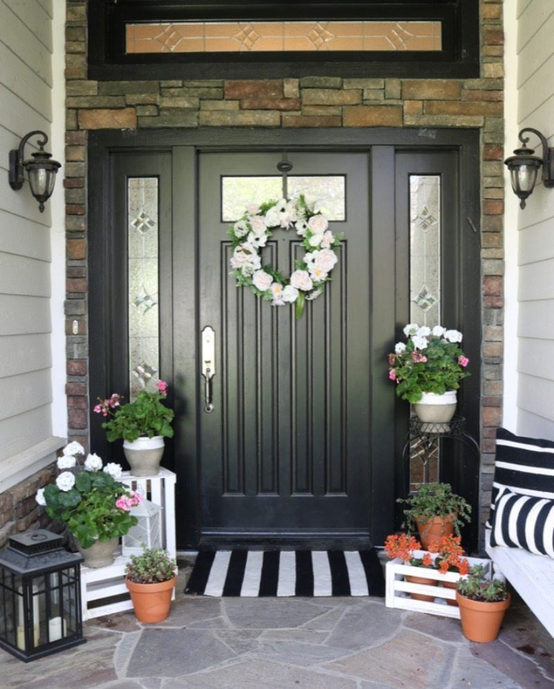 36 Simple Spring Entryway Ideas On A Budget Front Entrance Decor