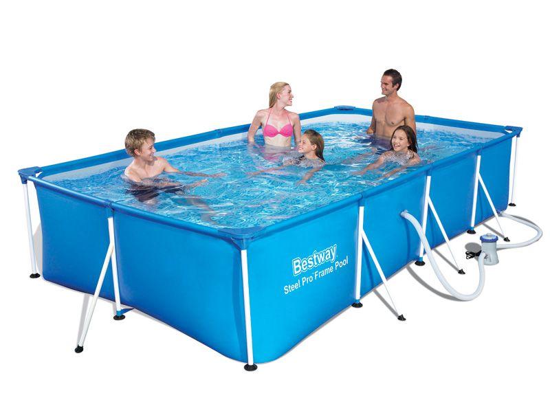 בריכת שחייה Bestway מלבנית מידות 400x211x081 ס מ דגם 56424