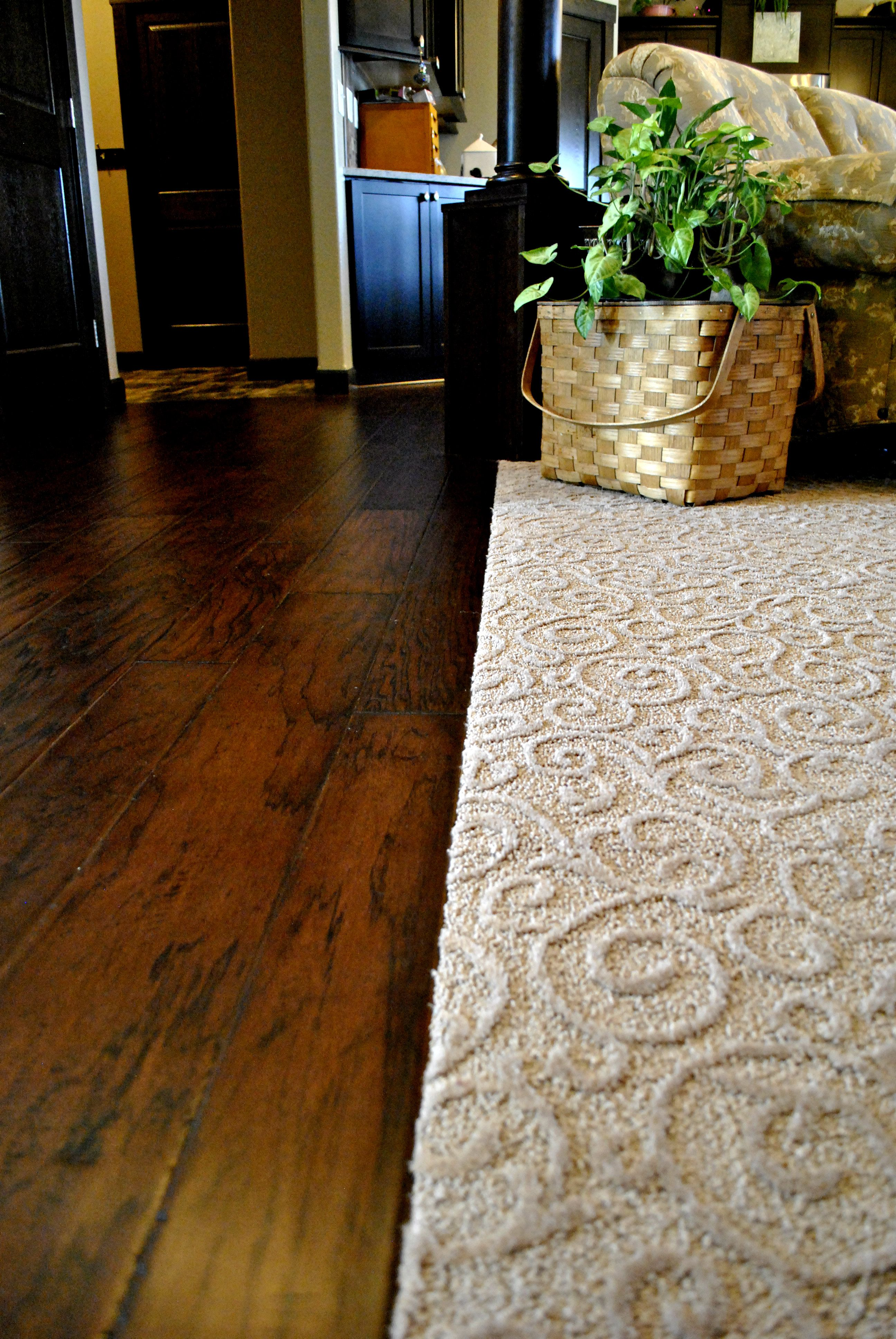 Wood to Pattern Carpet Transitions Pinterest