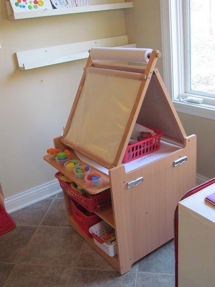 Guidecraft Desk To Easel Art Cart Wish List For Preschool