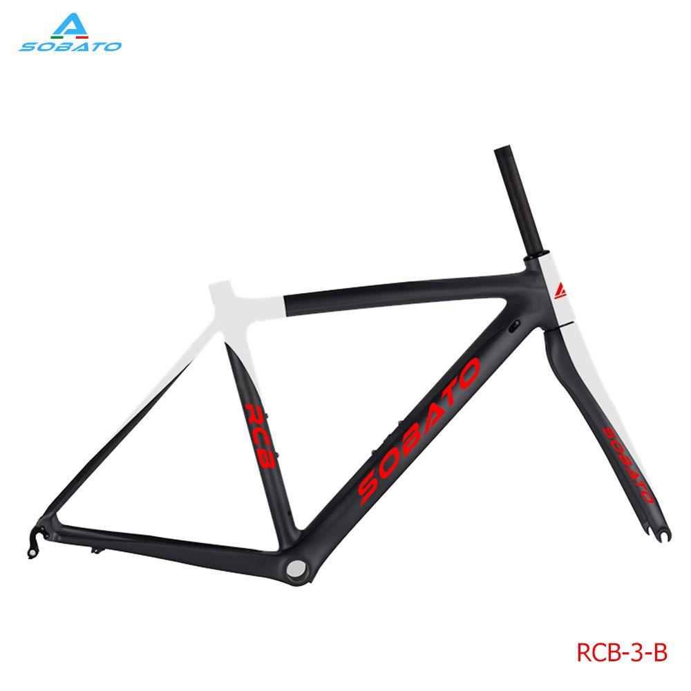 Cheap Carbon road bike frame di2 BSA carbon fiber bike frame with ...