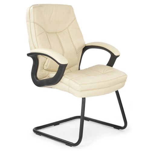 Superb Bordeaux Cream Leather Cantilever Chair Officechair Caraccident5 Cool Chair Designs And Ideas Caraccident5Info