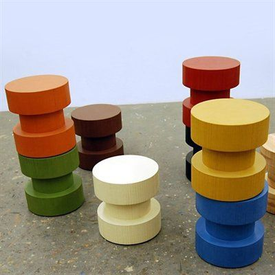 Bright, Colorful, & Modern End Table Seating by Jeb Jones