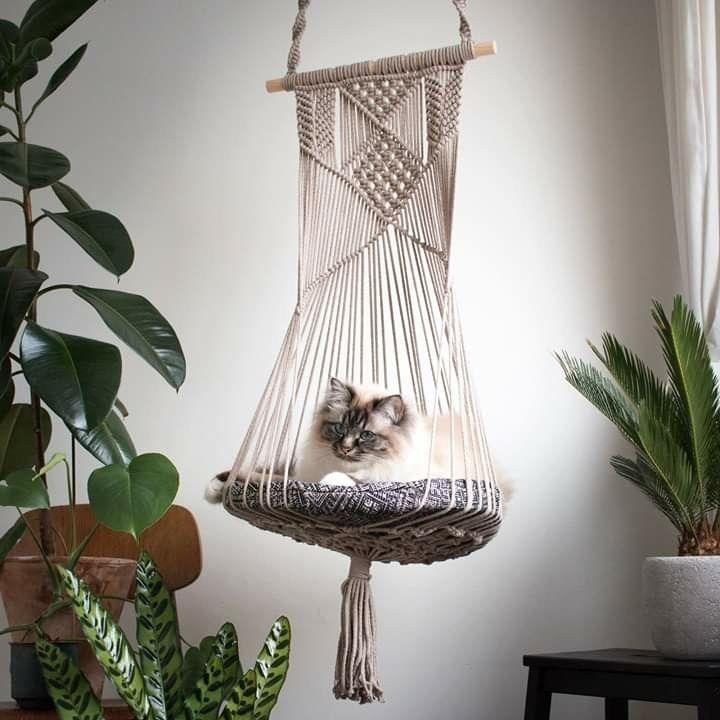 Hanging Cat Planter プラントハンガー キャットハウス アイデア