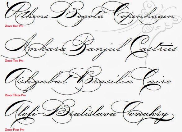 Fancy Cursive Fonts Alphabet For Tattoos