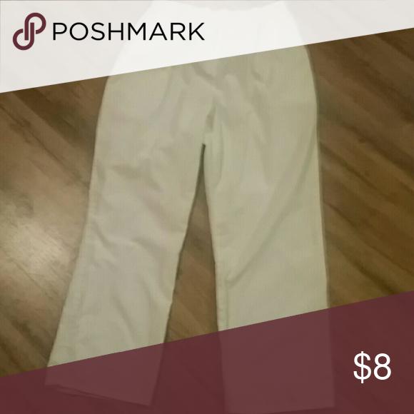 White scrub pants Worn once, (bundle scrubs for a discounted price ) Cherokee Pants