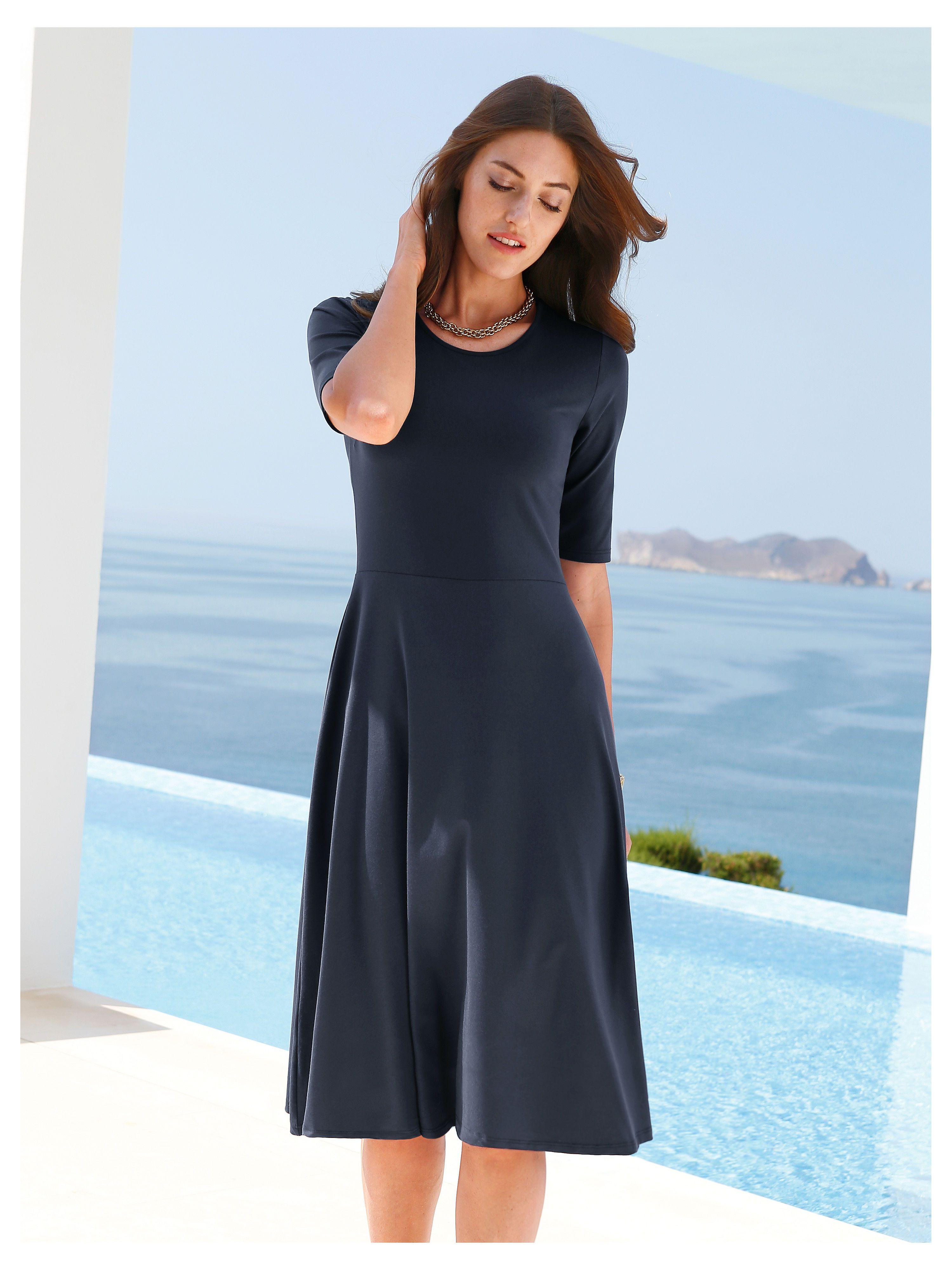Peter Hahn   Jersey Kleid zum Schlupfen   Nachtblau   Kleider für ...