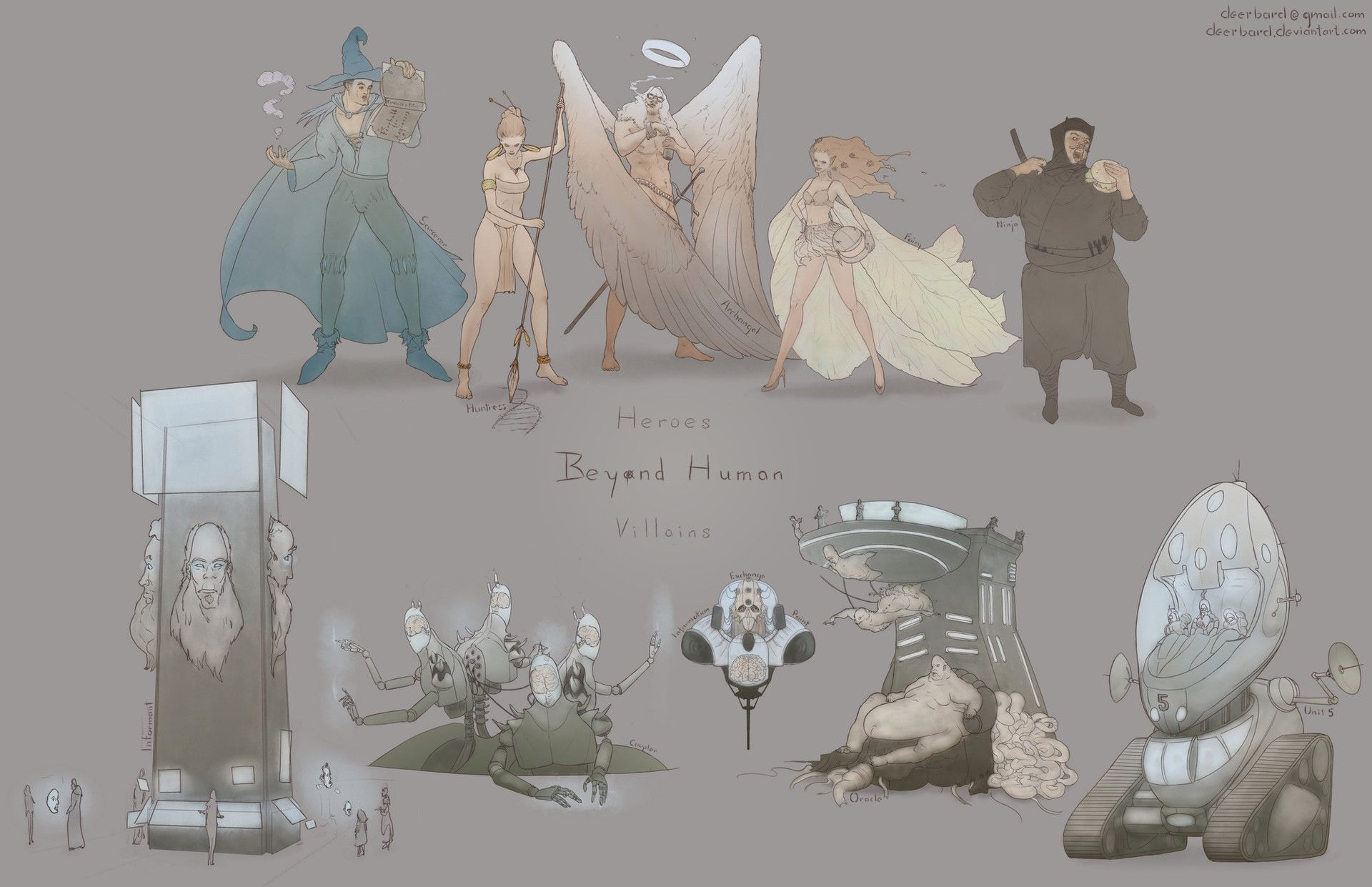 ArtStation - D e e r b a r d's submission on Beyond Human - Character Design