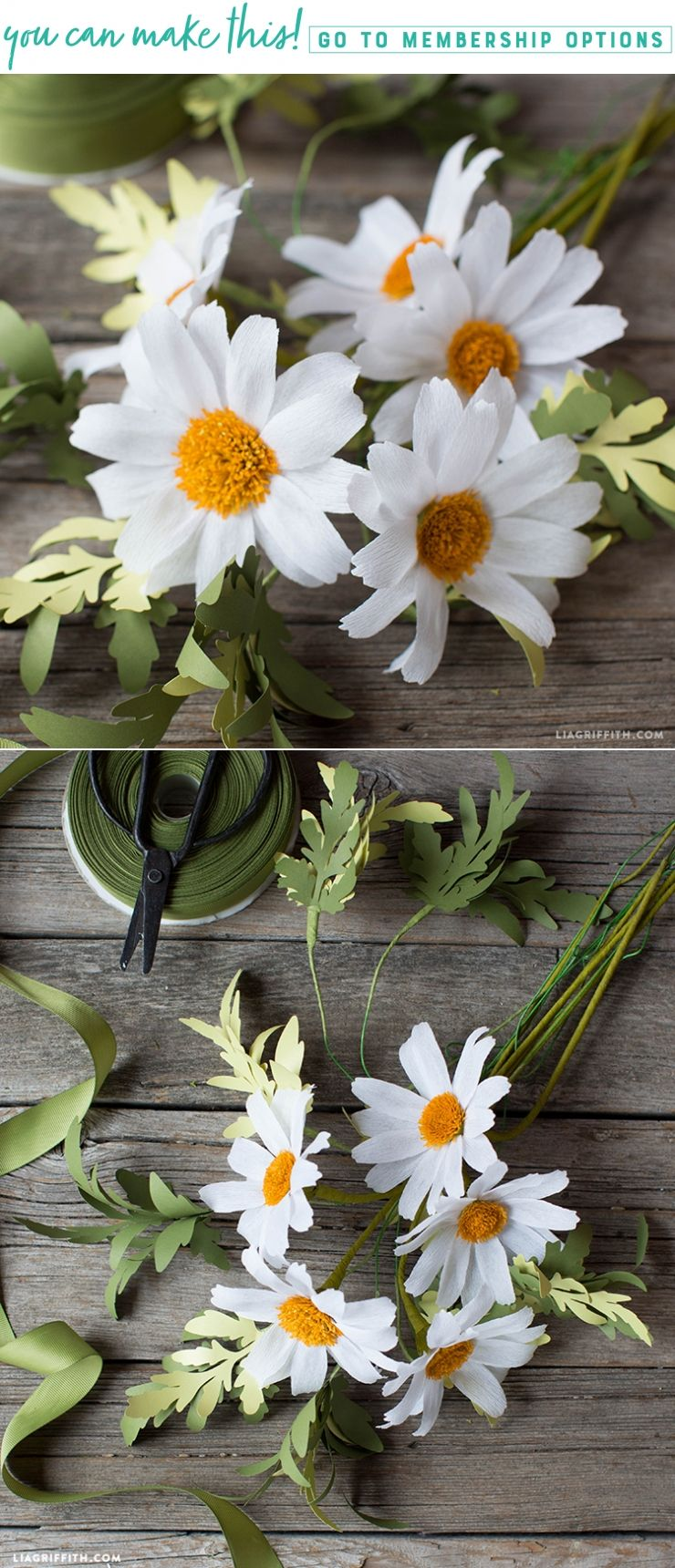 Diy Easy Crepe Paper Daisy Flower Video Tutorial Diy Mothers Day