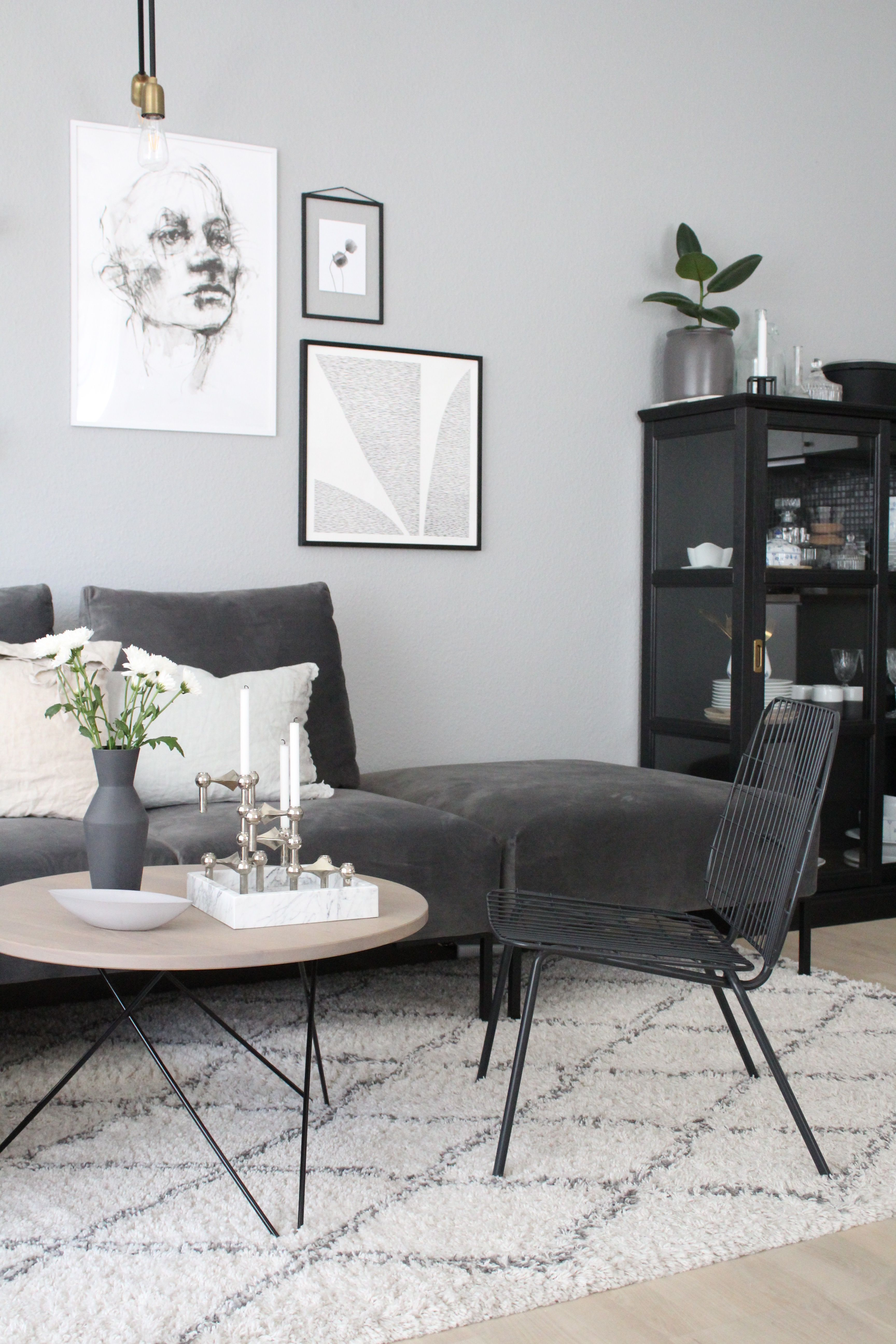 WM String Lounge Chair by Menu | Gray interior, Interiors and ...