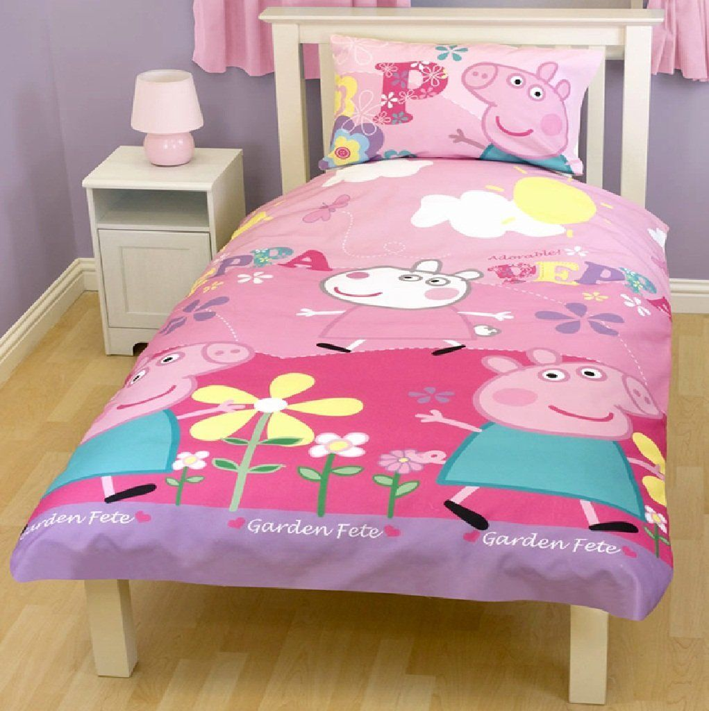 Peppa Pig Bedding Duvet Bedding Sets Toddler Bed Girl Full
