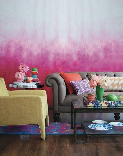 Decoración paredes efecto degradado | Salons, Mixers and Walls