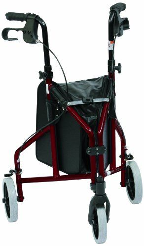 Drive Medical Triwalker – Andador con tres ruedas (aluminio)
