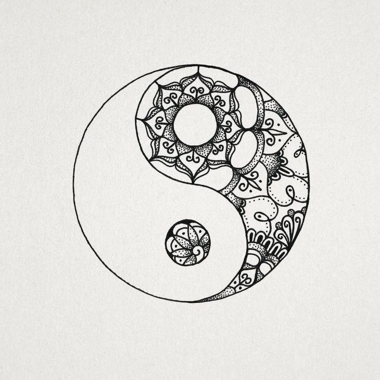yin yang ️  Вдохновляющие татуировки Татуировка в виде