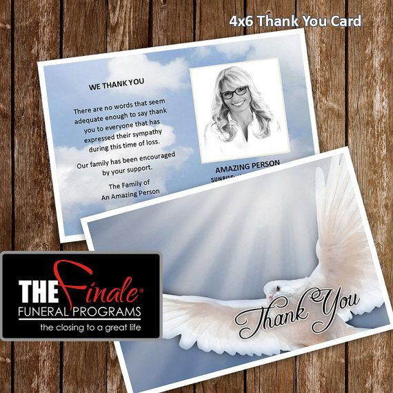 4x6 Thank You Card HEAVENLY DOVE BLUE Microsoft Word Document   Microsoft  Thank You Card Template  Microsoft Thank You Card Template