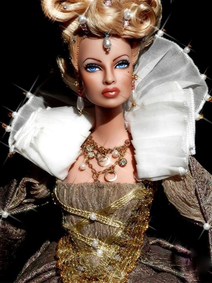 Queen Elizabeth Beautiful Real Looking Barbies With Long Hair