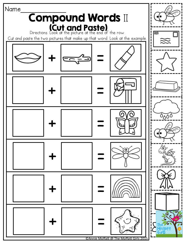 Compound Words- Such a fun activity for Kindergarten