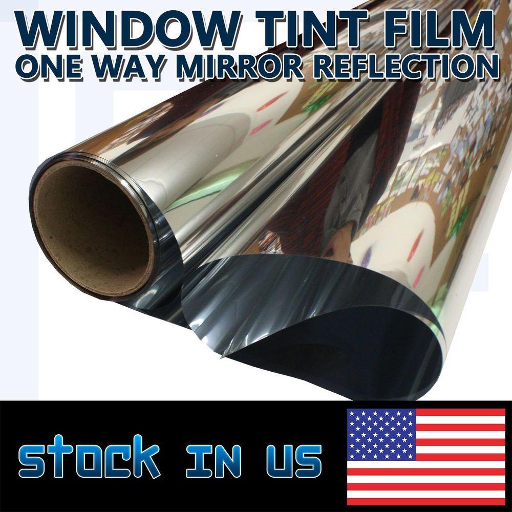 One Way Mirror Finish Vinyl Window Tint Wrap Self Adhesive Film