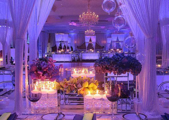 Modern romantic wedding centerpieces