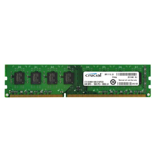 Crucial 4GB Single DDR3 MT/s PC3-12800 CL11 Unbuffered UDIMM 240-Pin Desktop Memory Module... - http://bit.ly/1BH9we5