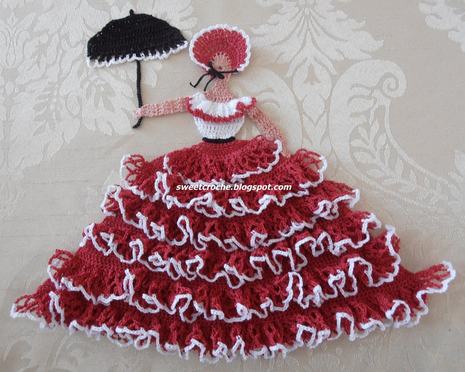 sweetcroche crinoline lady in red crochet everything and more pinterest. Black Bedroom Furniture Sets. Home Design Ideas