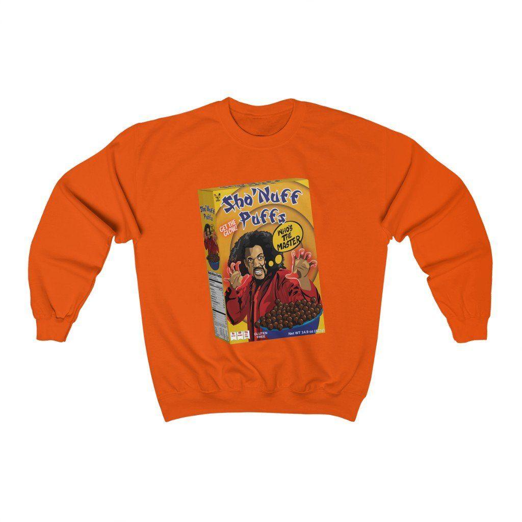 Sho' Nuff Puffs – Last Dragon (Unisex) Sweatshirt – Orange / S