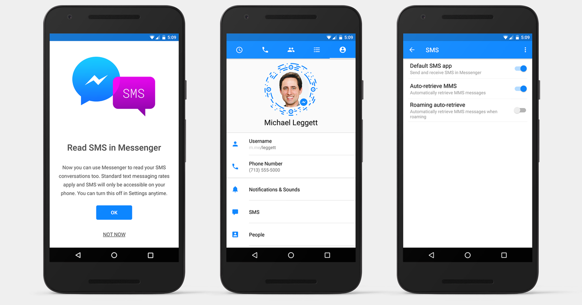 Android users can now do all their texting from Facebook