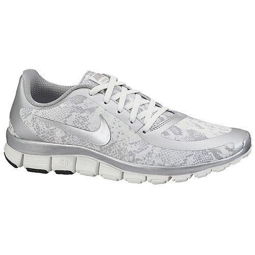 e6c2b8f5c3dd Nike Wmns NK Free 5.0 V4 NS PT White Silver 695168 002 Women s Size 8 NEW   Nike  RunningCrossTraining
