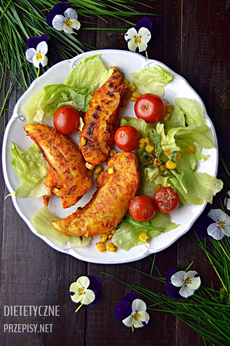 Grillowane Poledwiczki Z Kurczaka Po Meksykansku Z Salatka