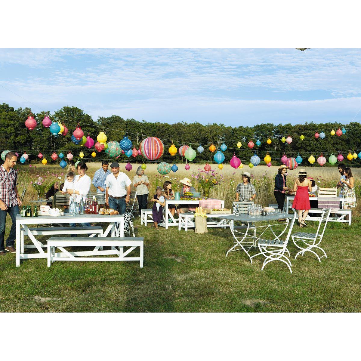 Table De Jardin Rectangulaire Gris Anthracite Garden Party