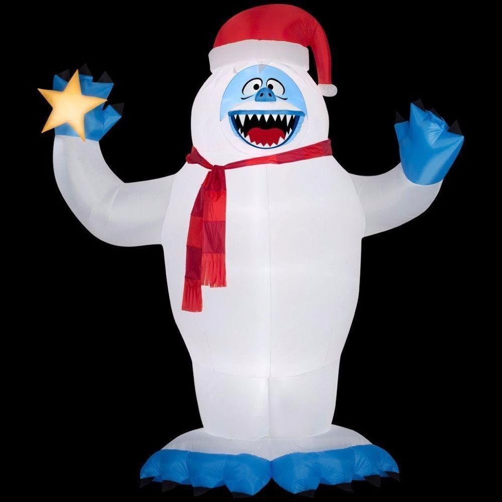 Christmas Inflatable Bumble with Santa Hat Lights Up with Energy ...