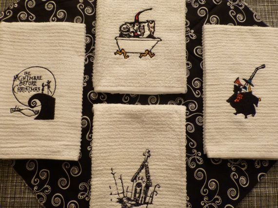 Nightmare Before Christmas Embroidered Towels Jack