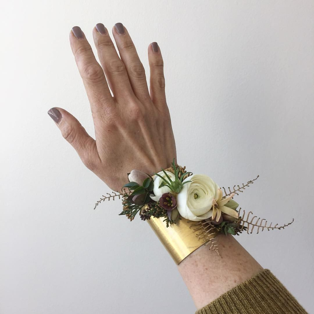 680 Likes 34 Comments Passionflower Passionflowersue On Instagram Demo Corsage For Today 39 S One O Rose Gold Filled Floral Jewellery Criss Cross Ring