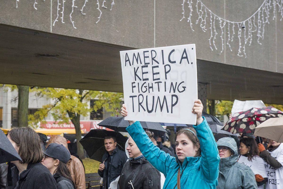 Protesters close the U.S. consulate in Toronto