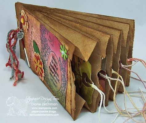 paper bag & tag book #paperbagcrafts