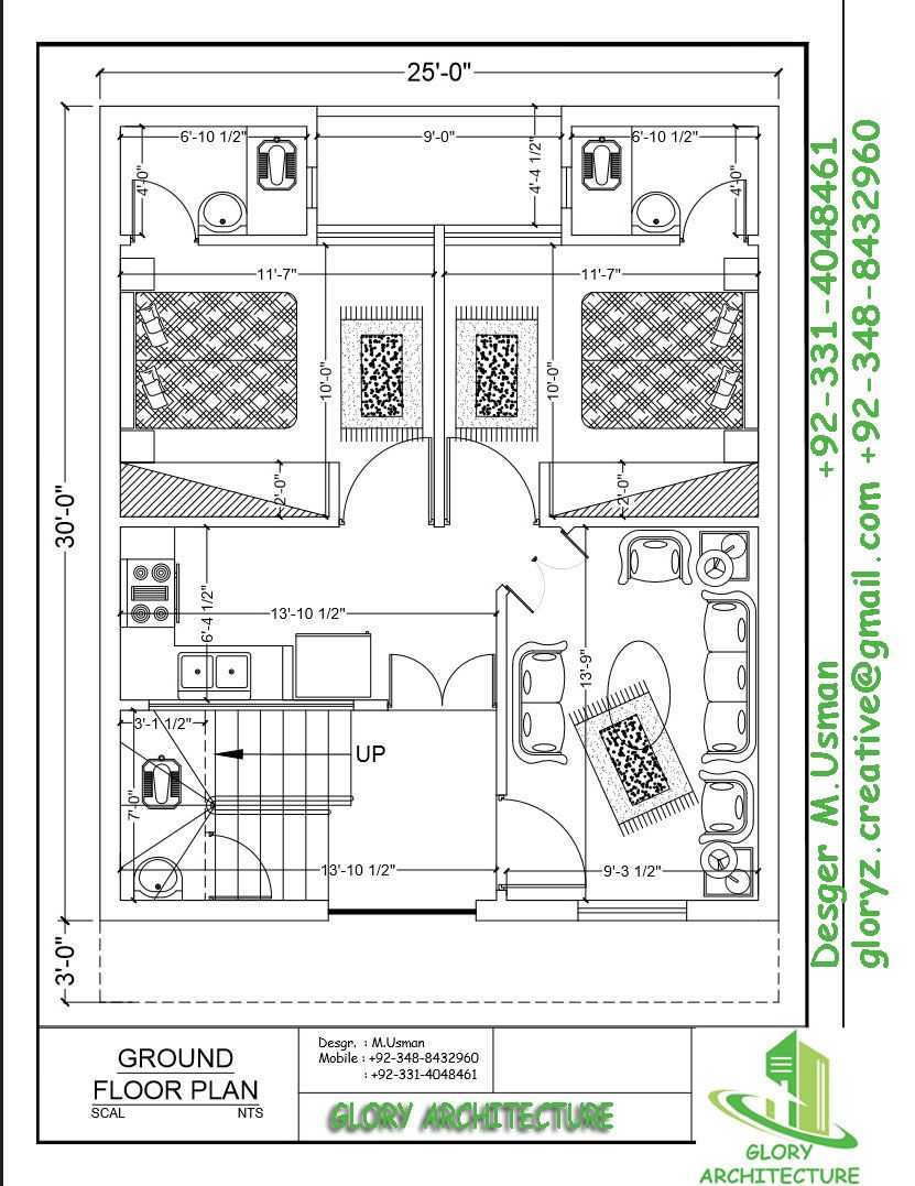 3 Marla House Plan 4 Marla House Plan House Architecture