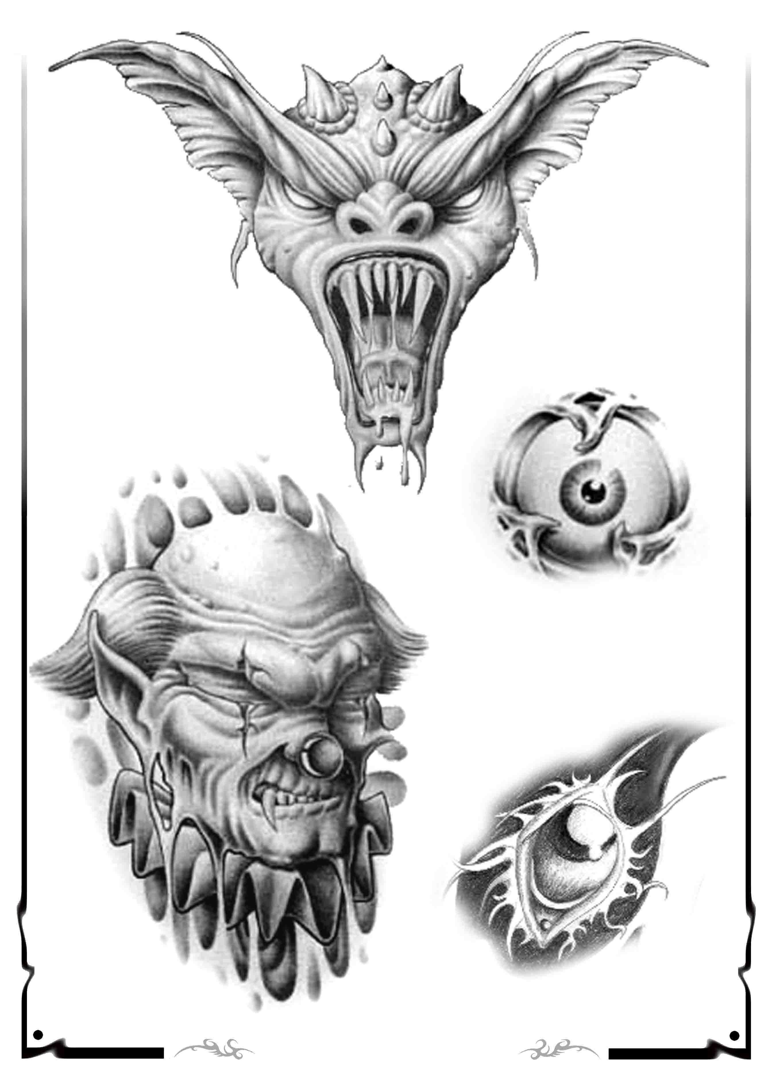 Demon Tattoo Design Img526 171 Skulls Demons 171 Flash Tatto Sets 171 Tattoo Tatueringsdesigner Tatuering