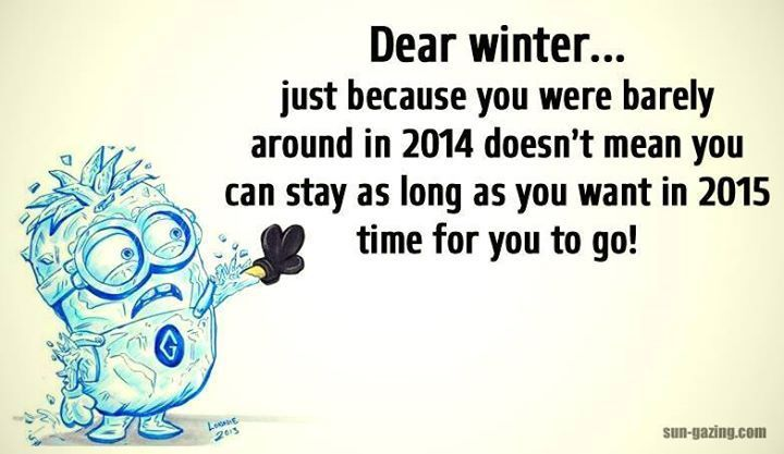 Dear Winter Funny Quotes Quote Winter Funny Quote Funny Quotes Humor Minions Minion Quotes Funny Quotes Weather Quotes Funny Winter Quotes For adults, winter brings a slew of festivities like skiing, snowboarding, sled dog racing, and many others. pinterest