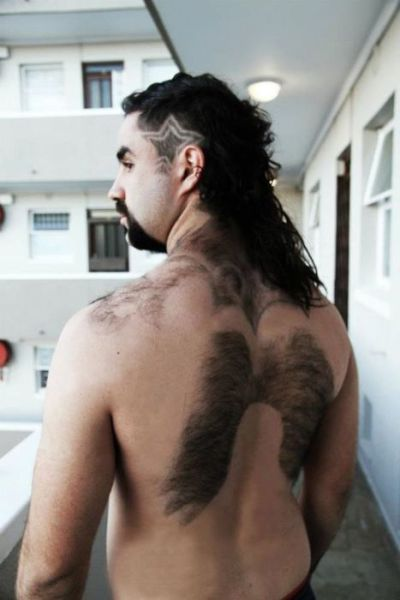 Number shaved into back photos 786
