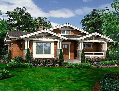 Plan 23264JD: Vaulted One Story Bungalow Part 88