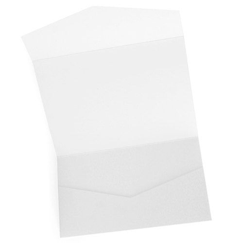 Blank Pocket Invitation and Matching Envelope Horizontal Rectangle