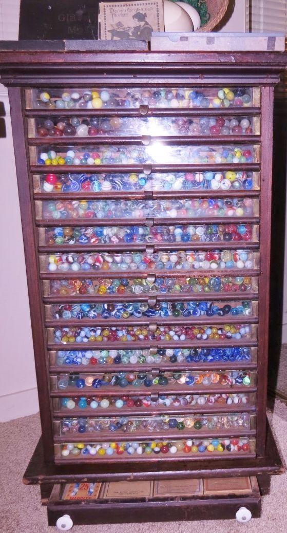 Private Collectors Display Case Vintage Fantasy Marbles