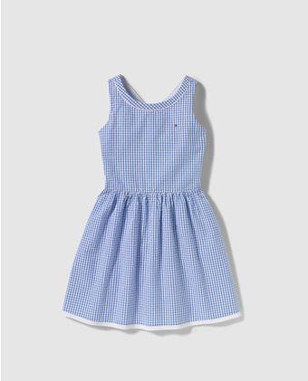 c0a7671e4a6 Vestido de niña Tommy Hilfiger de cuadros vichy