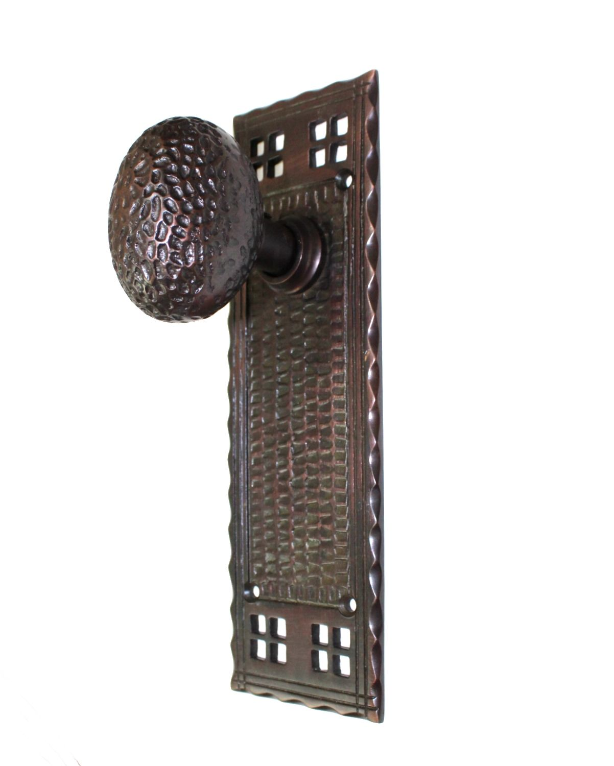 Arts and Crafts Single Push Button Switch Plate Mission or Bungalow Bronze