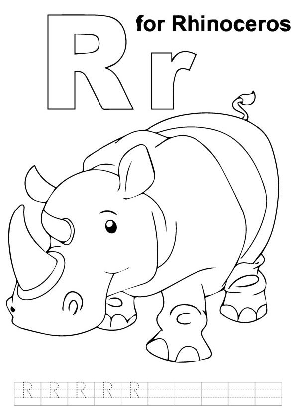 Print Coloring Image Momjunction Abc Coloring Letter R Crafts Coloring Pages